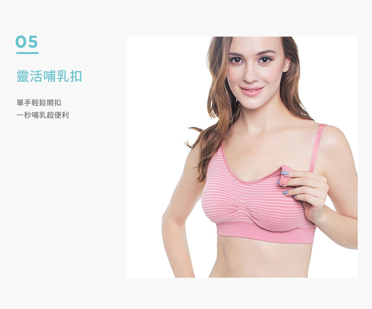 孕哺乳期, 哺乳內衣, 特點, 舒適內衣, 胸部變化, 高彈力無痕孕哺乳胸罩, 有效集中承托胸部, 靈活哺乳扣, 單手輕鬆開扣, 超便利