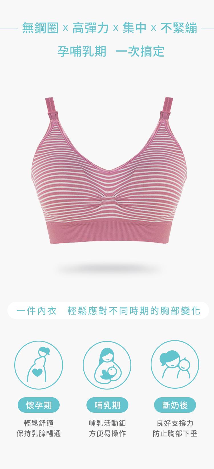 孕哺乳期, 無鋼圈, 高彈力, 集中, 不緊繃, 哺乳內衣, 舒適內衣, 哺乳內衣, 胸部變化, 高彈力無痕孕哺乳胸罩