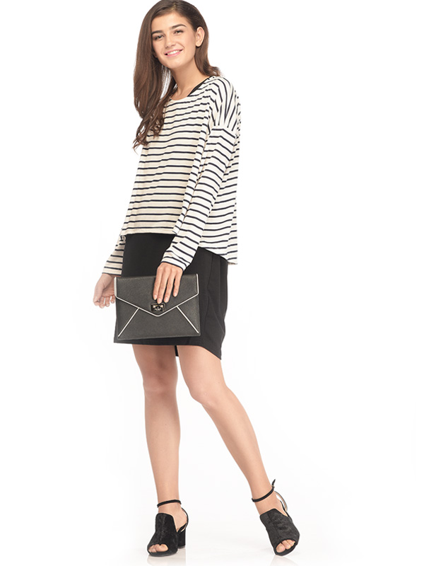 main mobile picture for 2-Piece Maternity & Nursing Dress in Striped with Long Sleeves Baju Ibu Hamil Menyusui
