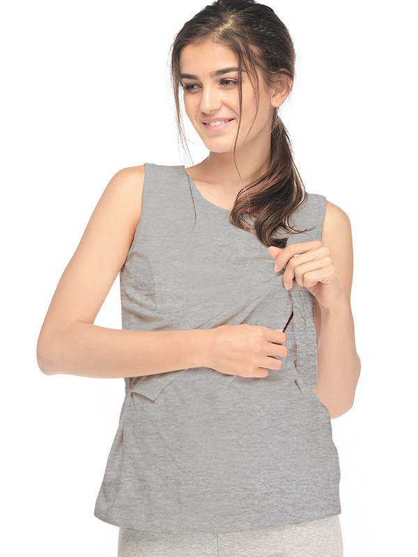 one gallery picture for Cotton Soft Maternity & Nursing Tank Top Baju Hamil Menyusui