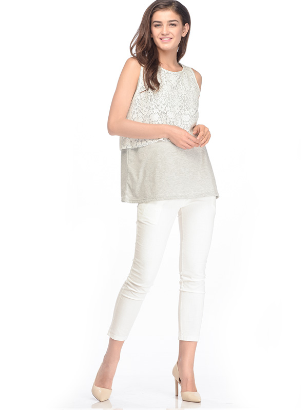 one gallery picture for Maternity & Nursing Lace Top With Double Layer Baju Hamil Menyusui
