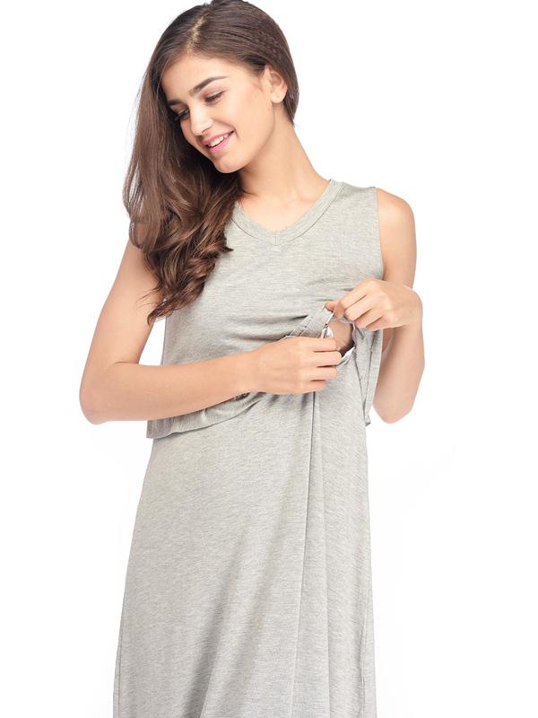one gallery picture for Maternity & Nursing Ruffle Midi Long Dress Baju Hamil Menyusui