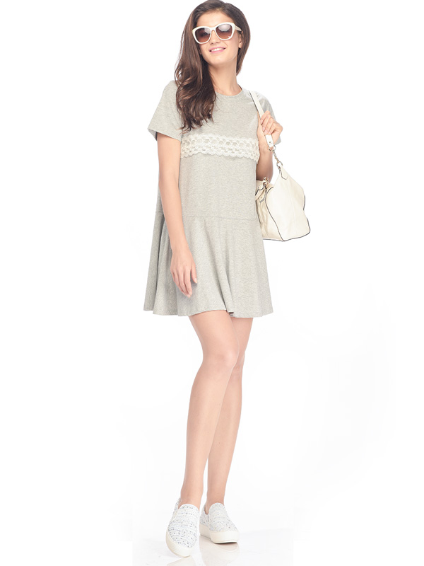 one gallery picture for Casual Maternity & Nursing Dress with Lace Baju Hamil Menyusui