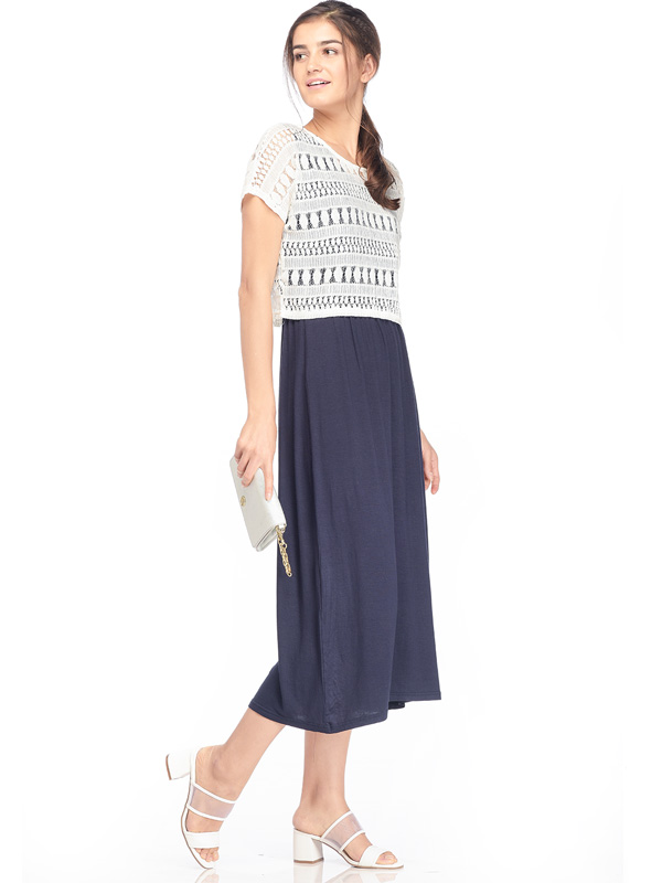 one gallery picture for 2-Piece Maternity & Nursing Dress with Lace Top Baju Hamil Menyusui
