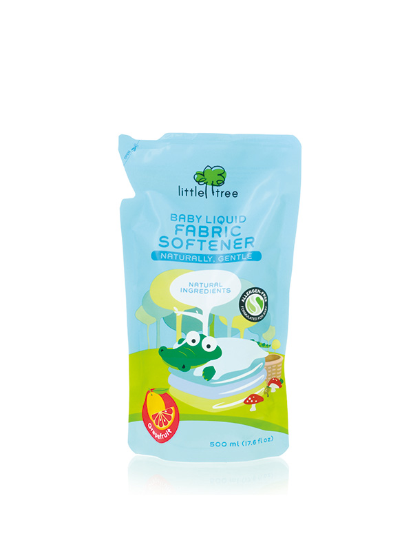 one gallery picture for Little Tree Baby Liquid Fabric Softener Pelembut & Pengharum Baju Bayi (REFILL PACK)