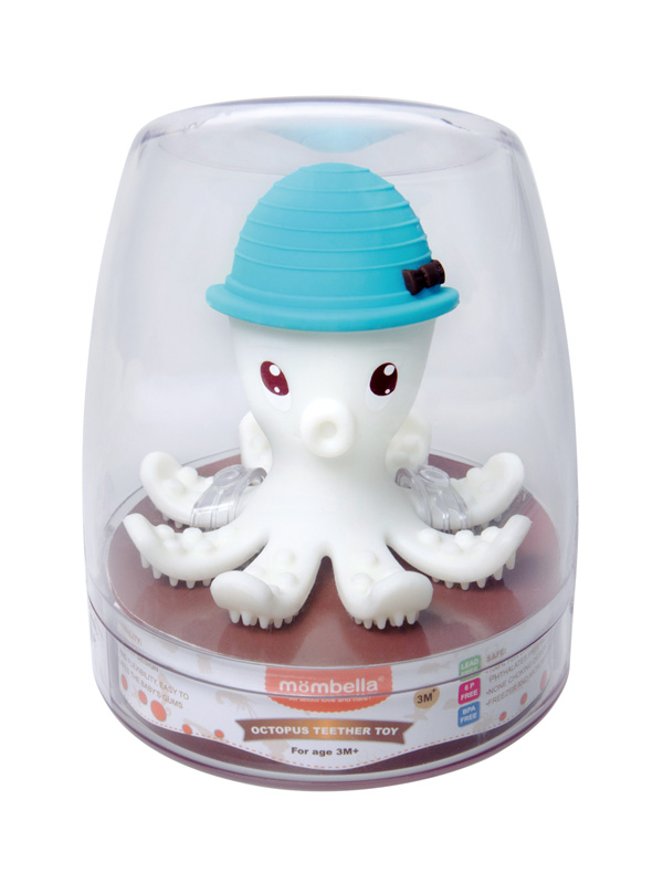 one gallery picture for Mombella Octopus Teether Toy Doo Mainan Gigitan Bayi - Powder Blue