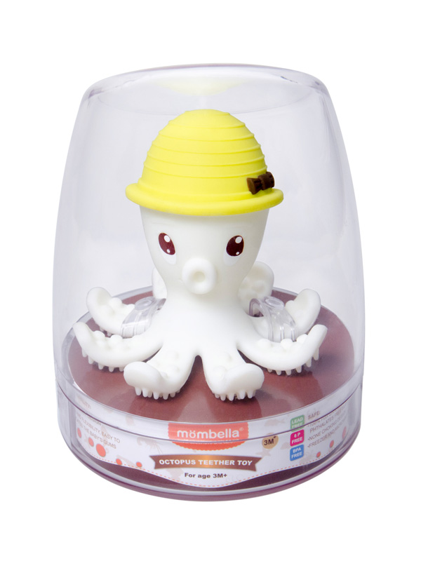 one gallery picture for Mombella Octopus Teether Toy Doo Mainan Gigitan Bayi - Lemon