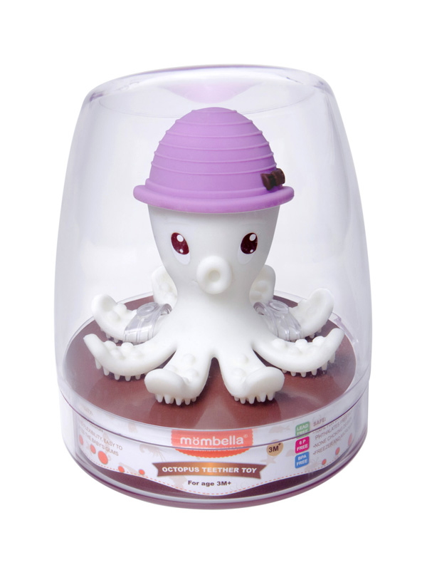 one gallery picture for Mombella Octopus Teether Toy Doo Mainan Gigitan Bayi - Lilac
