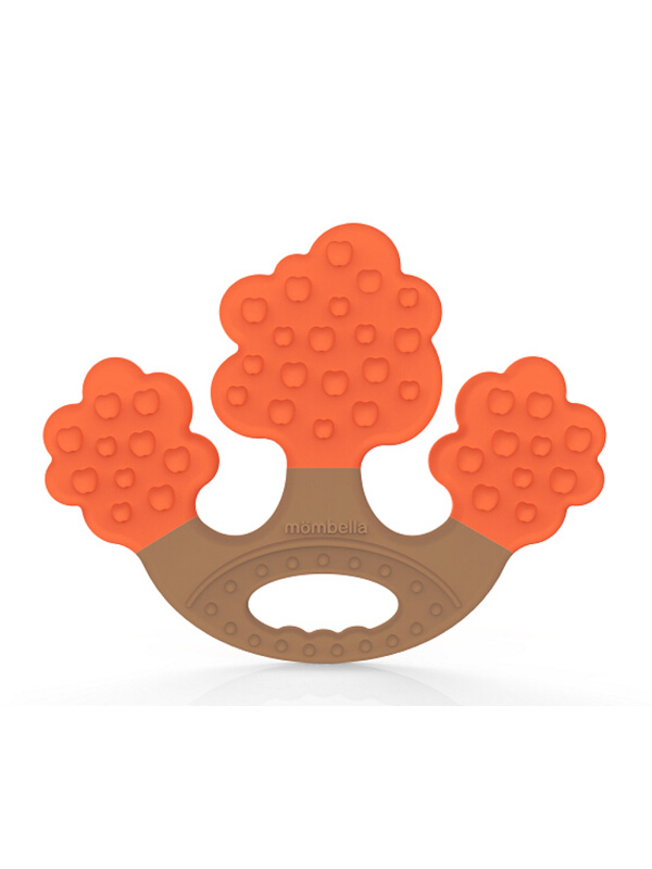 one gallery picture for Mombella Apple Tree Teether Mainan Gigitan Bayi - Orange