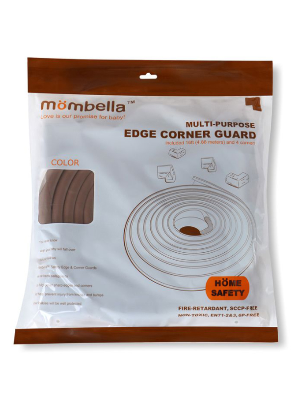 one gallery picture for Mombella Safety Edge Corner Cushion Guard Pengaman Tepi & Sudut Meja - Coffee