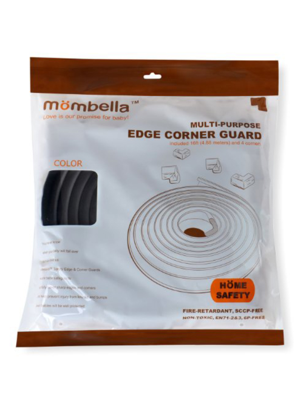 gallery picture of Mombella Safety Edge Corner Cushion Guard Pengaman Tepi & Sudut Meja - Black