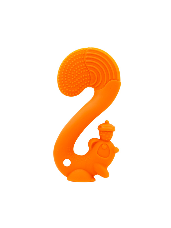 gallery picture of Mombella Squirrel Soothing Teether Mainan Gigitan Bayi - Orange
