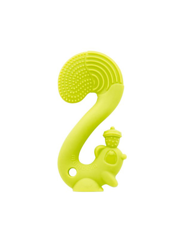 one gallery picture for Mombella Squirrel Soothing Teether Mainan Gigitan Bayi - Green