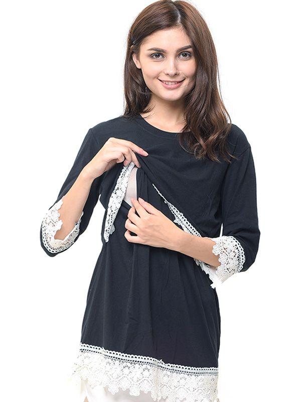 one gallery picture for Lace Black Nursing Top Baju Ibu Hamil & Menyusui
