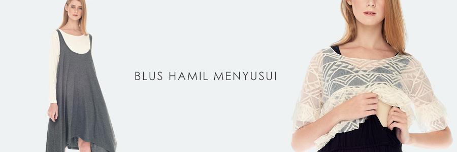 Jual Baju Hamil & Menyusui Lengan Panjang - MOOIMOM