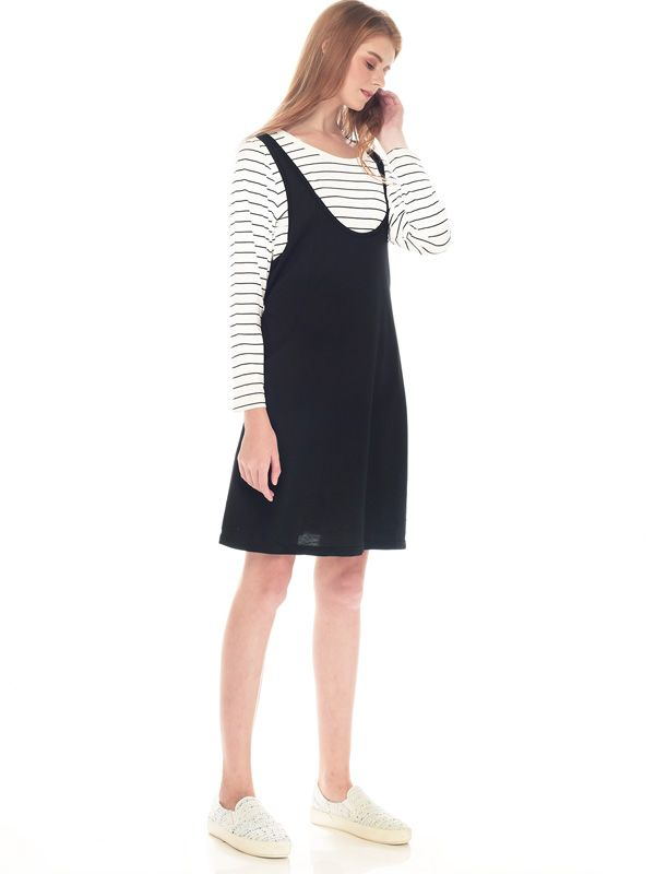 one gallery picture for 2 Piece Stripe Long Sleeves Sling Nursing Dress Couple Set Dress Baju Hamil Menyusui Couple Ibu Anak