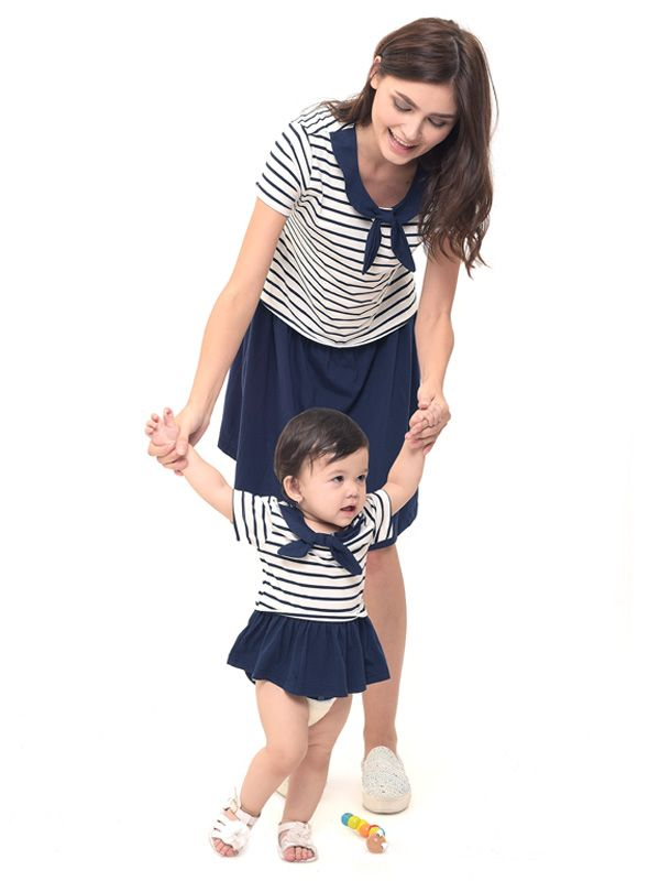 main mobile picture for MOOIMOM Scout Look Nursing Dress Couple Set Baju Hamil Menyusui Couple Ibu Anak
