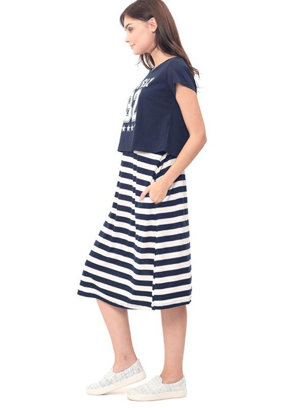 one gallery picture for MOOIMOM 2 Piece Number 32 Maternity & Nursing Dress Baju Hamil Menyusui