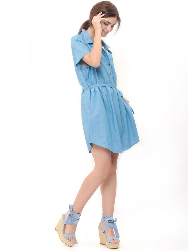 gallery picture of Denim Nursing Dress Baju Hamil Menyusui