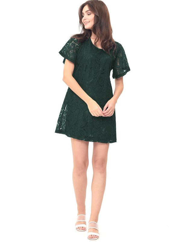 one gallery picture for MOOIMOM Full Lace Nursing Dress Baju Hamil Menyusui