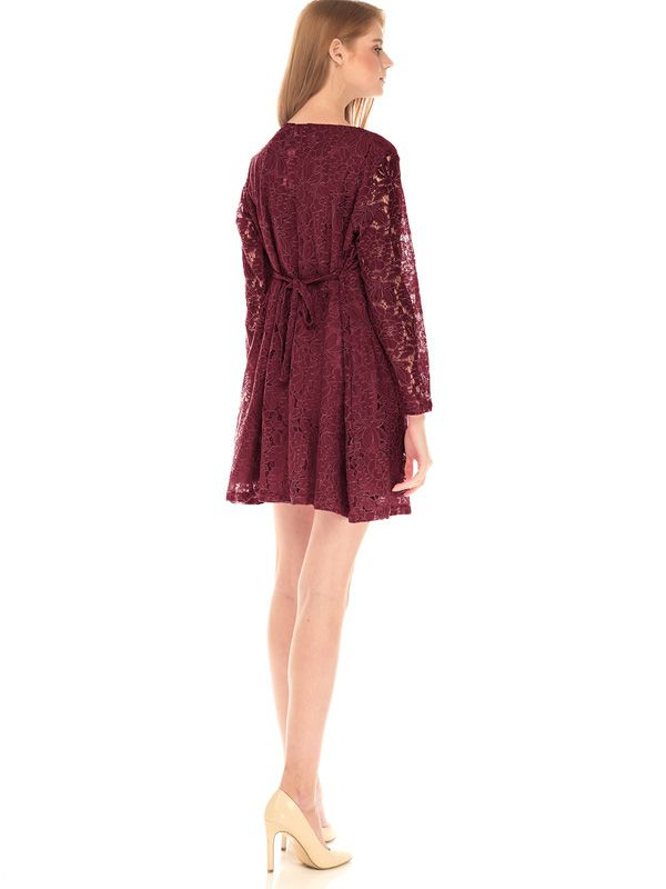 one gallery picture for Full Lace Long Sleeves Nursing Dress Baju Hamil Menyusui