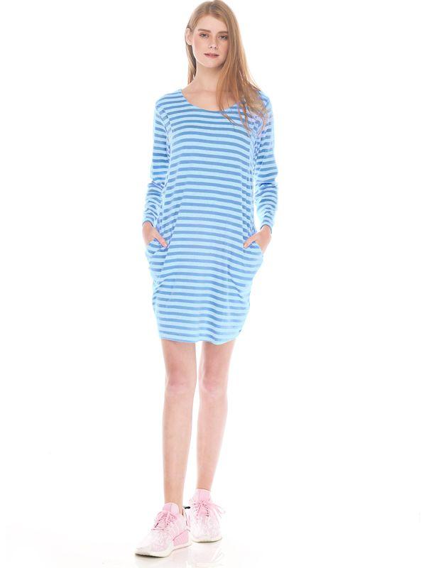 one gallery picture for Comfort Stripe Long Sleeves Nursing T-Shirts Dress Couple Set Baju Hamil Menyusui Couple Ibu Anak