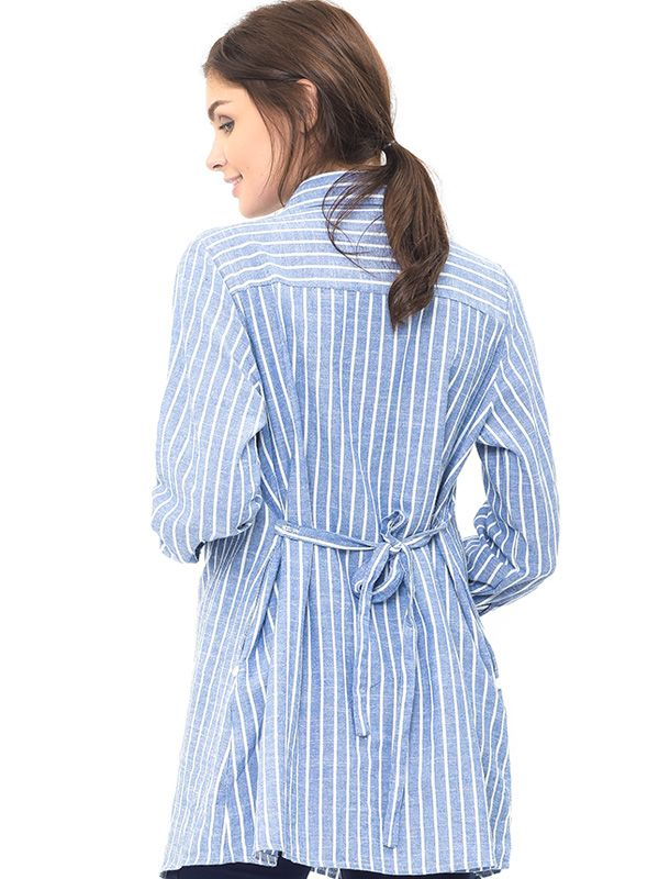 one gallery picture for Maternity and Nursing Stripe Shirt Baju Hamil Menyusui