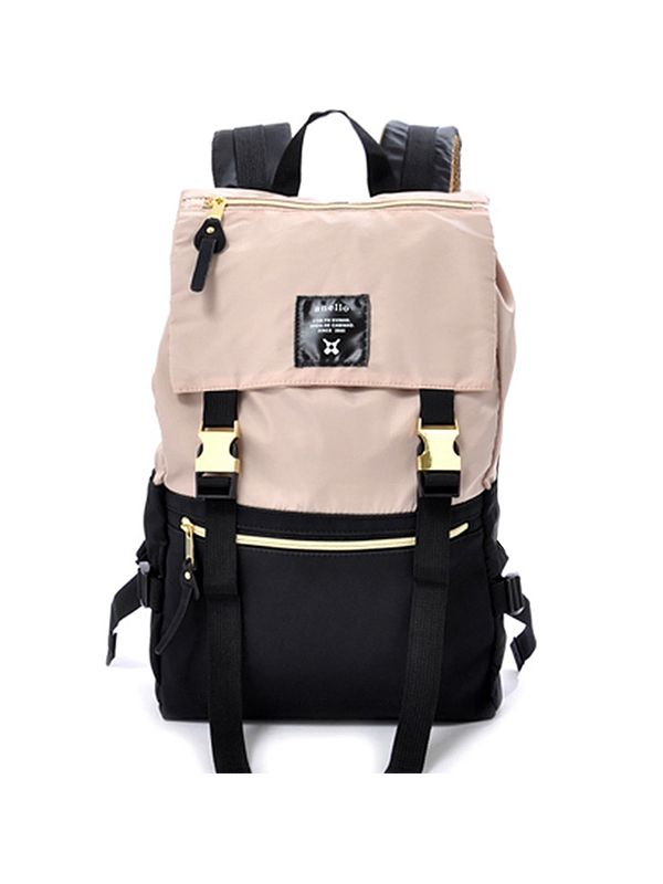one gallery picture for anello® Nylon Gold Buckle Backpack Tas Ransel