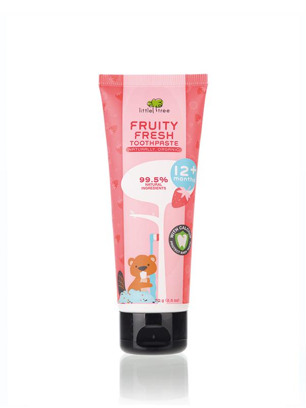 Beli pasta gigi bayi / odol bayi Little Tree hanya di Mooimom. Terbuat dari bahan organik alami yang aman digunakan oleh si kecil. Belanja sekarang yuk!