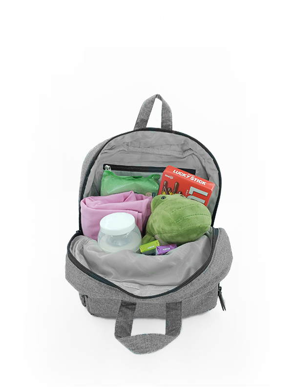 one gallery picture for 7 A.M. Mini Backpack Tas Ransel Anak - Heather Grey
