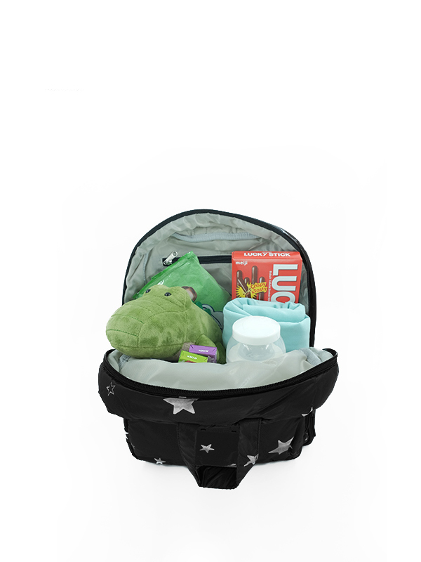 one gallery picture for 7 A.M. Mini Backpack Tas Ransel Anak - Black Star