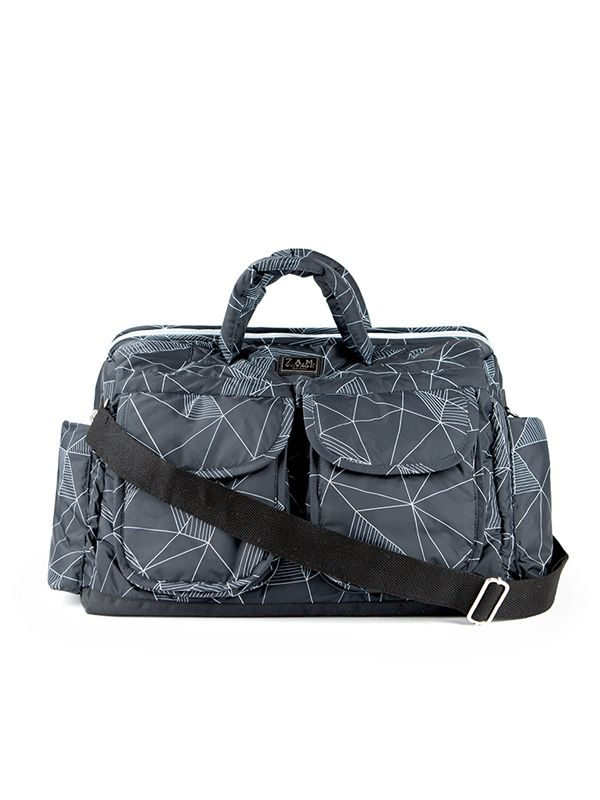 one gallery picture for 7 AM Voyage Bag Tas Popok Bayi - Black Geo