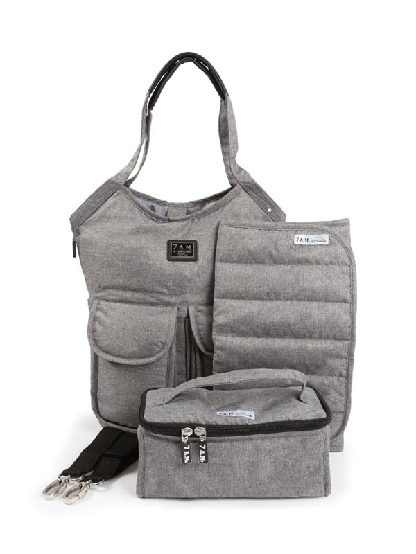 one gallery picture for 7 A.M. Barcelona Bag Diaper Bag Tas Popok Bayi - Heather Grey