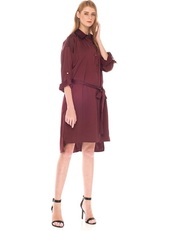 gallery picture of Button Up Long Sleeve Maternity & Nursing Dress Baju Hamil Menyusui