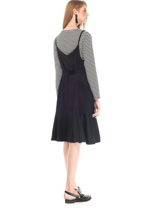 one gallery picture for Two Piece Stripe Ruffle Maternity & Nursing Dress Baju Hamil Menyusui