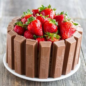 Chocolate & Strawberry Kit Kat Cake