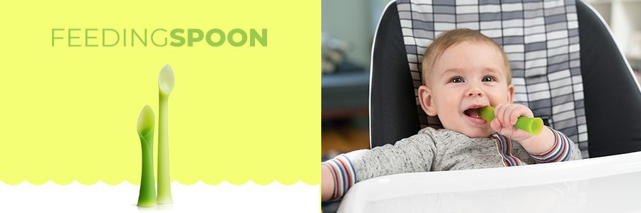 Beli Alat Makan Bayi / Sendok Bayi Olababy Termurah di MOOIMOM