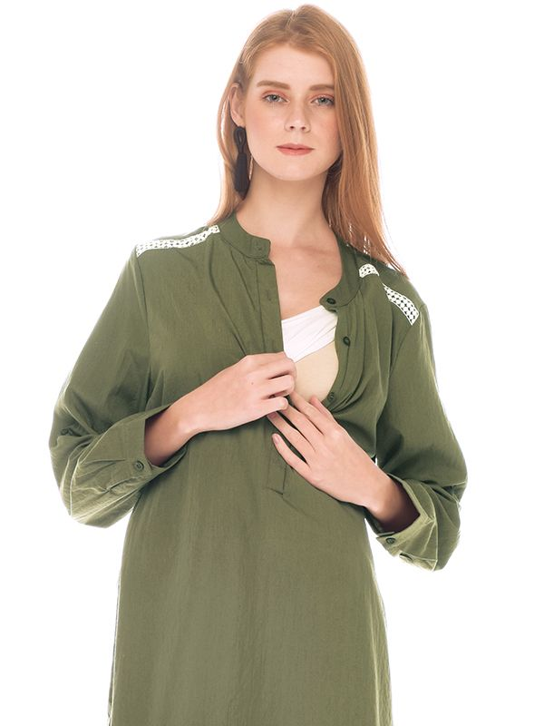 one gallery picture for Green Army Maternity & Nursing Shirt Baju hamil Menyusui