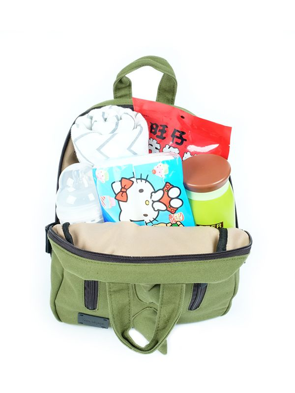 one gallery picture for 7 A.M. Mini Dino Cotton Backpack Tas Ransel Anak - Army