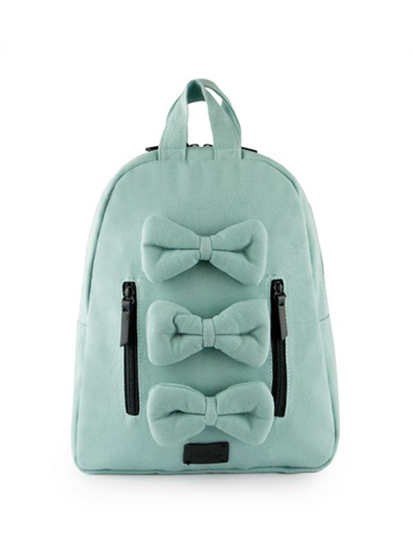 gallery picture of 7 A.M. Mini Bows Cotton Backpack Tas Ransel Anak - Aqua