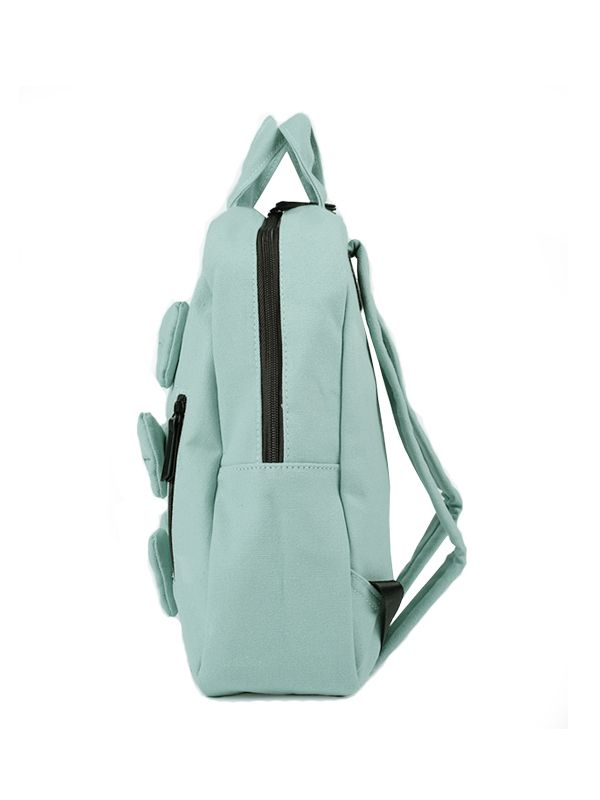 one gallery picture for 7 A.M. Mini Bows Cotton Backpack Tas Ransel Anak - Aqua