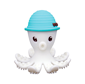Octopus Teether Toy - Powder Blue