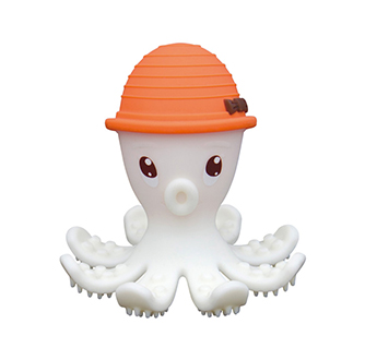 Octopus Teether Toy - Orange