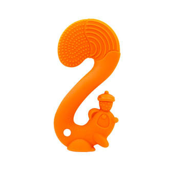 Squirrel Teether - Orange