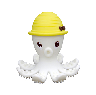 Octopus Teether Toy - Lemon