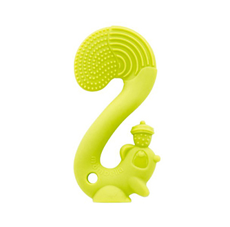 Squirrel Teether - Green