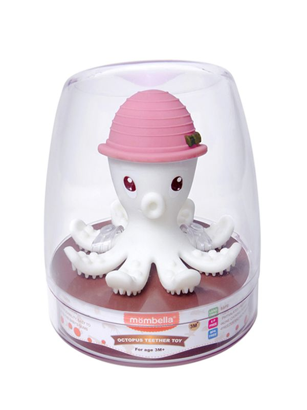 one gallery picture for Mombella Octopus Teether Toy Doo Mainan Gigitan Bayi - Pink