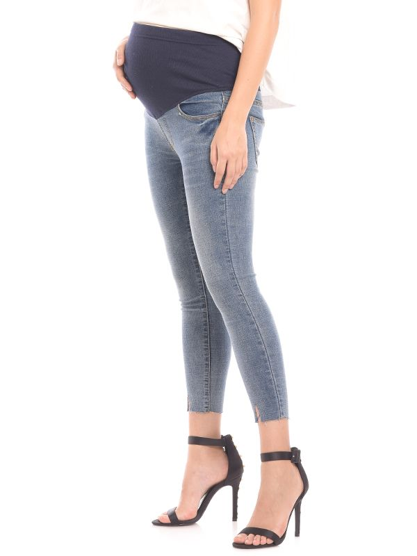 one gallery picture for Maternity Crop Hem Ankle Jeans Celana Jeans Hamil