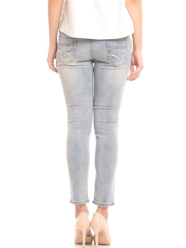 one gallery picture for MOOIMOM Over The Bump Maternity Skinny Jeans Celana Jeans Hamil