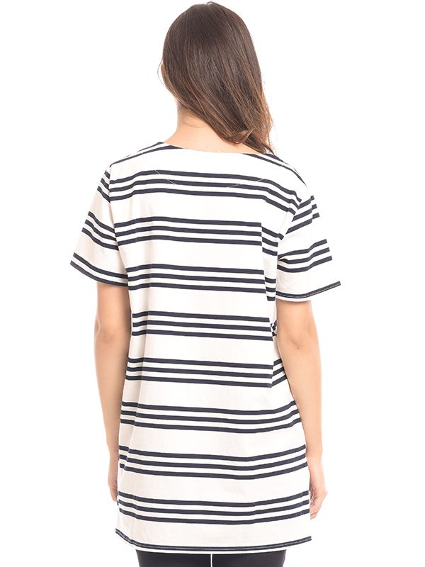 one gallery picture for Front Stripe Jersey Maternity & Nursing Top Baju Hamil & Menyusui